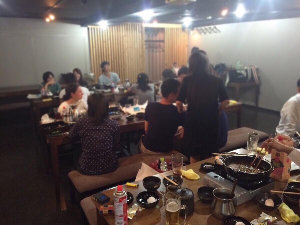 新入社員研修後の懇親会@肉の入江